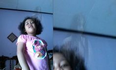 Haunting Image Shows Ghost Behind 5-year-old Indonesian Girl  UFO Sightings Hotspot