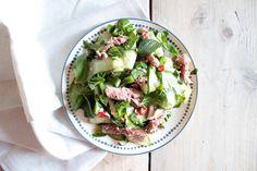 Thaise biefstuk salade Food Disorders, A Food, Good Food, Thai Beef Salad, Low Carb Diet, Cobb Salad, Salad Recipes, Foodies, Salads