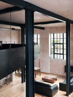 Double Height, Mezzanine  Clapton Warehouse Conversion by Sadie Snelson Architects | Yellowtrace