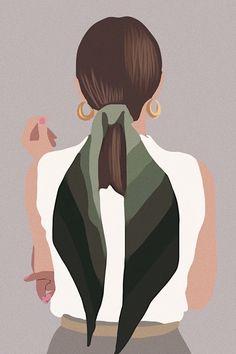 Illustration Design Graphique, Illustration Art Drawing, Digital Illustration, Graphic Illustration, Illustrations, Woman Illustration, Art Sketches, Art Drawings, Doodle Drawing
