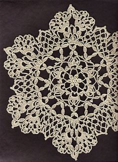 "Ravelry: Lacy Six Point Doily pattern by Cheri Mancini - free pattern // ♡ GORGEOUS!!! THIS IS A DEFINITE ""MUST DO""! ♥A"
