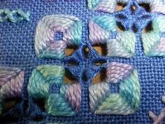 detail of Hardanger pillowcase