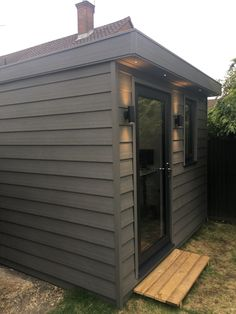Garden Office using SIP panels Sip Panels, Garden Office, Shed, Outdoor Structures, Projects, Log Projects, Lean To Shed, Coops, Barns