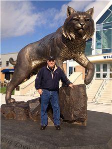 Wildcat statue at Johnson & Wales Harborside Campus           #VisitRhodeIsland