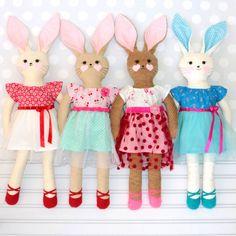 Rag Doll Pattern Stuffed Toy Pattern pdf Rabbit Pattern Pdf