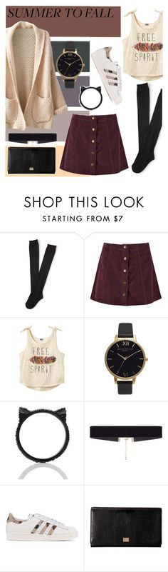 """""""Summer To Fall"""" by georgianna2000 ❤ liked on Polyvore featuring Aéropostale, Boohoo, Olivia Burton, Kate Spade, 8 Other Reasons, adidas Originals and Dolce&Gabbana"""