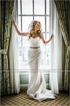 Beautiful bride portrait. Wedding photography at The Royal Park Hotel, Michigan.
