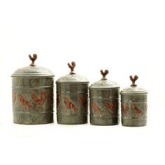 Rooster 4-Piece Fresh Canister Set