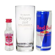 Personalised Vodka and Red Bull Set  from Personalised Gifts Shop - ONLY £17.55
