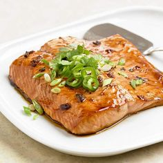 Finally, a way to get rid of the pepper jelly that's been sitting in our fridge longer than I want to admit... this Pepper Jelly and Soy Glazed Salmon looks pretty tasty!