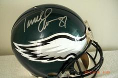 Terrell Owens Autographed and Inscribed Authentic NFL Philadelphia Eagles Football Helmet | crazycollectors.com