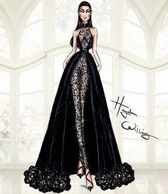 Hayden Williams Fashion Illustrations: Hayden Williams Haute Couture SS15: Look 5
