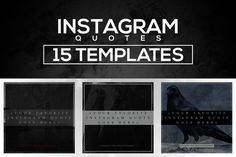 15 Instagram Templates vol.3: Quotes by RussGFX on Creative Market
