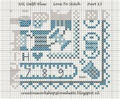 Part 12 SAL Delft Blue Love To Stitch