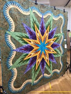 Feathered Star Queen, Quiltworx.com, Made by CI Jennifer Eubank