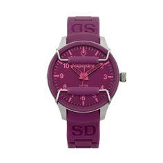 Superdry Scuba Solar dark purple watch SYL127P ($58) ❤ liked on Polyvore…