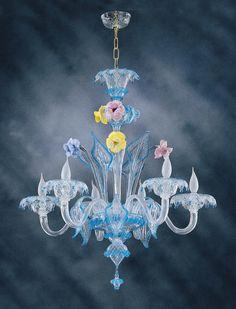 Floral Pastoral Crystal Chandelier