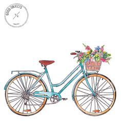Good objects - Vintage bicycle for the cover of @revistalara #goodobjects #watercolor #illustration