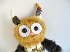 Antique Car Stuffed Animal Monster Boy Toy Plush by FluffyFlowers