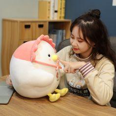 Kawaii Therapy Chubby Chicken Plush - Limited Edition - KawaiiTherapy Kawaii Plush, Bean Bag Chair, Therapy, Chicken, Baby, Decor, Decoration, Beanbag Chair, Baby Humor