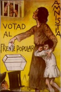 The Spanish Civil War - 17 July – An Armed Forces rebellion against the recently-elected leftist Popular Front government of Spain starts the civil war. Frente Popular, Spanish War, History Posters, Communist Propaganda, Powerful Images, Party Poster, Children Images, World War Two, Spain