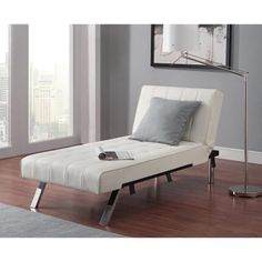 Free Shipping. Buy Emily Futon Chaise Lounger, Multiple Colors at Walmart.com