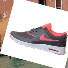 Nike Air Max Thea Bianco Dark Grigio Hyper Punch Donna Sport Scarpe,Don't regret ,that's modern sneakers hot style with big off is here.