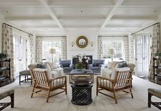 Use the two Maguire chairs in family room. John B. Murray Architect: Recent Work.  Great arrangement
