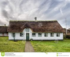Traditional House In Nordby On The Danish Island Fano Stock Image - Image of idyllic, craftsmanship: 30986785 Getting Married In Denmark, Danish House, Thatched House, Traditional House, Royalty Free Stock Photos, Cabin, Island, Mansions, Landscape