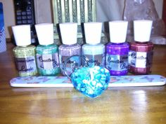 Juilianna shows off her new pretties from Creations By Lynda LLC! (Old bottle/ label)