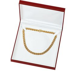 Red Large Omega Necklace Box...(61-6384:233744:T).! Price: $19.99 #necklacebox #jewelrybox