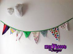 Banderines de diferentes tamaños My Violet :D myvioletdesigns.com