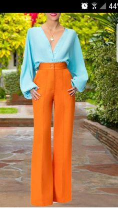 Colour Combinations Fashion, Color Combinations For Clothes, Looks Chic, Looks Style, Colourful Outfits, Colorful Fashion, Black Women Fashion, Look Fashion, Mode Outfits