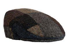 Harris Tweed Patch Flat Cap from harristweedhats.com #Tweed #HarrisTweed