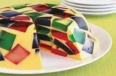 Pastel de gelatinas de colores!!!