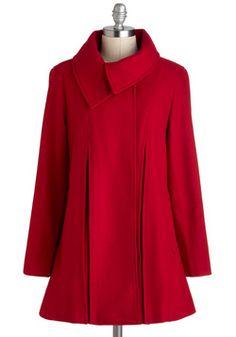 Sky Capers Coat in Crimson, #ModCloth