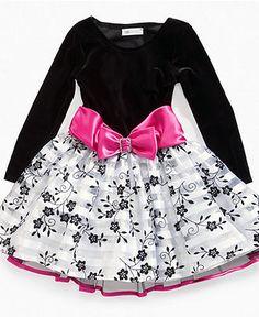 Bonnie Jean Girls Dress, Little Girls Long Sleeve Dress - Kids Dresses - Macy's