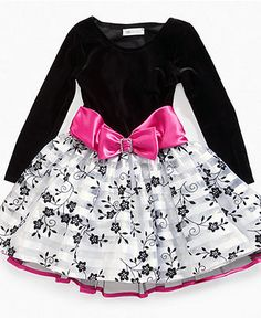 Jayne Copeland Kids Dress- Little Girl Velvet Holiday Dress - Kids ...