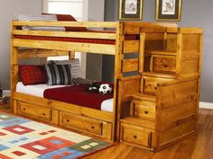Best Twin Over Full Bunk Bed With Stairs