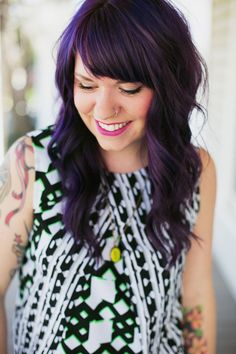 Crochet Basics: Getting Started & Reading Patterns - A Beautiful Mess Also LOVE her purple hair!
