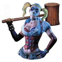 Arkham Asylum Bust Bank - Harley Quinn