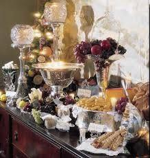 Christmas Buffet Table Settings