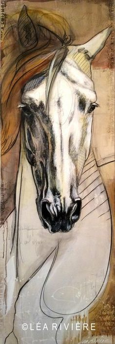 Discover some basic and simple technique of painting with our Acrylic Painting Tips - The result will impress and value added your artwork! Horse Drawings, Animal Drawings, Art Drawings, Horse Face Drawing, Painted Horses, Arte Equina, Horse Sketch, Horse Illustration, Watercolor Horse