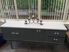 I went for Rustoleum anthracite with white top & heart handles. White Tops, Bedrooms, Bathtub, Interiors, Bathroom, Heart, Kitchen, Home, Standing Bath