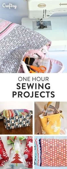 Diy Sewing Projects Searching for a quick sewing project? These 6 patterns are fast and easy. - Find six fun and (and some free!) patterns for sewing projects, from a quick tote to a carry-all basket and even pajamas. On Craftsy! Easy Sewing Projects, Sewing Projects For Beginners, Sewing Hacks, Sewing Tutorials, Sewing Crafts, Sewing Tips, Sewing Basics, Love Sewing, Sewing For Kids