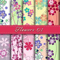 Flowers  Digital  Paper PrintableDigital by ArtDownload on Etsy, $3.49
