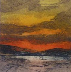 """""""Only a Moment"""" by Sarah Ross-Thompson - Collograph print"""