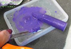 Halloween Hair Color  Soak colored chalk in water, then add it to your hair. And it's washable.