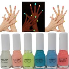 Lots of 6pcs Summer Neon Fluorescent Luminous Oil Matte Nail Polish Candy Transparent Nail Varnish Lacquer Paint Nail Art >>> Check out the image by visiting the link.