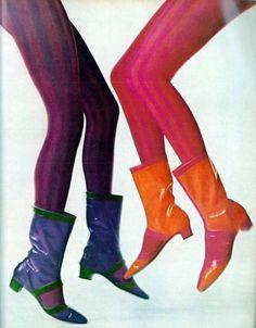 Cool boots !Mod . 1960's fashion.
